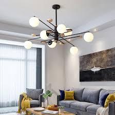 großhandel moderne magische bohne glaspendelleuchten für wohnzimmer schlafzimmer esszimmer club bar le schwarz weiß grau pendelleuchten hängen