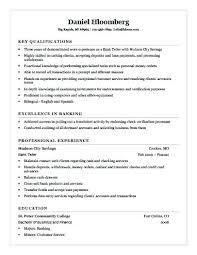 Sample Resume Bank Teller Supervisor Unique Ideas Resumes Banking Res
