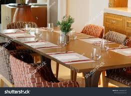 Casual Restaurant Dining Table Set Dark Stock Photo (Edit ...