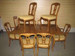 Item 26 John Widdicomb Dining Room Table 8 Chairs And Pads