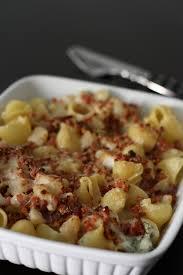 gratin de pâtes au gorgonzola poires noix et jambon cru gratin