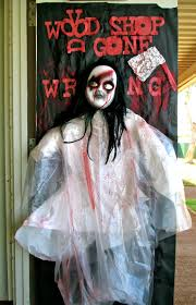 Scary Cubicle Halloween Decorating Ideas by Decoration Scary Spooky Voodoo Doll For Halloween Door Decoration