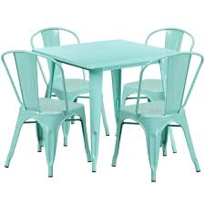 31.5'' Square Mint Green Metal Indoor-Outdoor Table Set With 4 Stack Chairs Jack Daniels Whiskey Barrel Table With 4 Stave Chairs And Metal Footrest Ask For Freight Quote Goplus 5 Pcs Black Ding Room Set Modern Wooden Steel Frame Home Kitchen Fniture Hw54791 30 Round Silver Inoutdoor Cafe 0075modern White High Gloss 2 Outdoor Table Chairs Metal Cafe Two Stock Photo 70199 Alamy Stainless 6 Arctic I Crosley Kaplan 4piece Patio Seating Oatmeal Cushion Loveseat 2chairs Coffee Rustic And Pieces Glass Tabletop Diy Patterns Pads Brown Tufted Target Grey