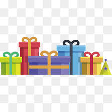 Color birthday t pile Vector Gift Gift Heap PNG and Vector