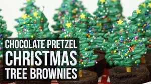 Rice Krispie Christmas Trees White Chocolate by Simple U0026 Easy Chocolate Pretzel Christmas Tree Brownies Youtube