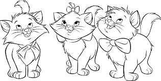 Cat Coloring Pages Disney