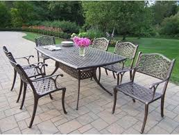 Latest Oval Outdoor Dining Sets Tivoli Cast Aluminum Patio
