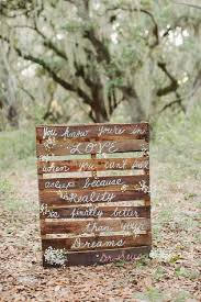 Wedding Quote And Rustic Wood Pallets Decor