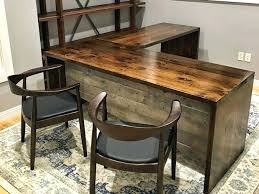 Large Size Of Reclaimed Office Desk Computer Wood Table Rustic With 3 Shelves Second Hand Desks