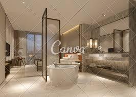 100 Modern Luxury Bedroom 3d Rendering Modern Luxury Bedroom Suite And Bathroom