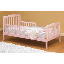 The Orbelle Contemporary Solid Wood Toddler Bed Pink