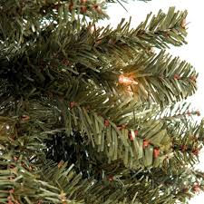 Silver Tip Christmas Tree Oregon by 7 5ft Hinged Fir Pencil Christmas Tree W Ul 588 Certified Lights