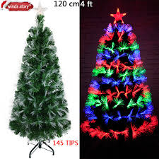 Christmas Tree Fiber Optic LED Artificial Chrismas Green Flash Indoor Xmas Trees Gift Decorations