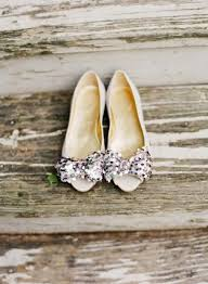 Bridal Flats Look Shoes Bright Wedding Glitter Lace Spring Summer Vintage