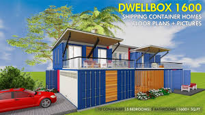 100 Plans For Shipping Container Homes HOMES PLANS And MODULAR PREFAB Design Ideas DWELLBOX 1600