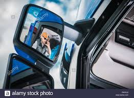 100 Truck Phone Driver In The Vehicle Mirror Caucasian Er Making