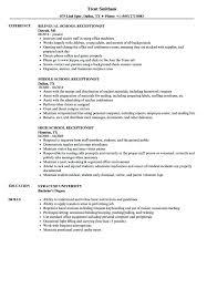 Resume Samples Receptionist School Velvet Jobs Inside Sample With Regard To