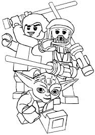 Star Wars Printable Coloring Pages Lego