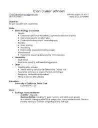 Laboratory Skills Resume Examples Combined With Biology Lab Example For Produce Astonishing