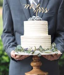 Rustic Wedding Cake Two Tiered