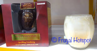 Costco Sale Northern Lights Alaura Gold Swirl Candle $11 99