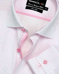 pink u0026 white striped dress shirt uniworth black