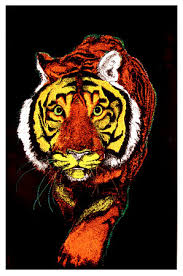 Tiger Blacklight Poster