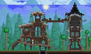 Terraria Small House and Tower by XploSlime7