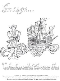 Columbus Day Coloring Page Printables For Kids Free Word Search Puzzles Pages And Other Activities