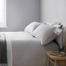 John Lewis Croft Collection Bethany Duvet Covers And Pillowcases Grey