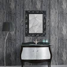 95M 3D Wood Timber Theme Wallpaper Roll Rustic Dark Grey Panel Pattern