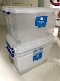 100 Storage Containers For The Home 48L Proud 4units Container With Wheels Cover