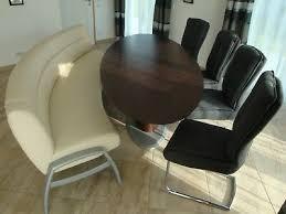 designer esszimmer mit tisch sitzbank und 4 stühlen eur