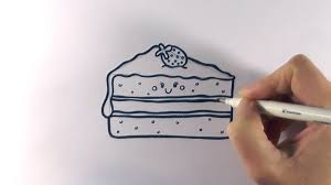 How to draw a slice piece of cake on paper step by step for beginners