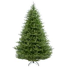 Unlit Artificial Christmas Trees 75 by Fraser Hill Farm 9 Ft Unlit Flocked Mountain Pine Artificial