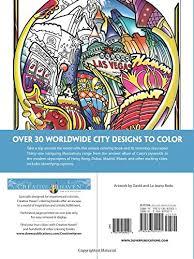 Creative Haven Circular Cities Coloring Book Adult