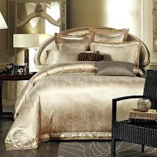 Luxurious Duvet Covers Gold White Blue Jacquard Silk Bedding Set