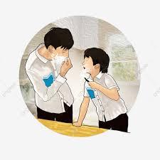 Ilustración Pintada A Mano Entre Padres E Hijos El Dia De