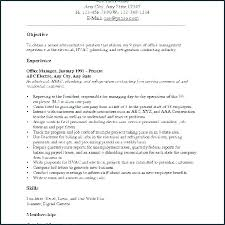 Example Of Career Objective For Resume All Jobs Objectives Examples A