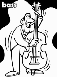 Bass Music Coloring Pages