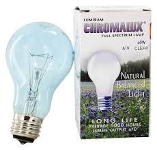 buy lumiram chromalux a19 60w clear light bulb spectrum