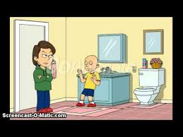 caillou ruins boris shower time youtube