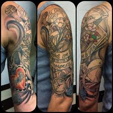 Tattoo Ink Half Sleeve Work In Progress Done With Doc Machines
