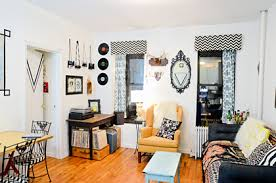 Living Room Furniture Crafty NYC Apartment Tour Via Flickr