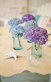 Hydrangeas Centerpiece Ideas For Beach Wedding