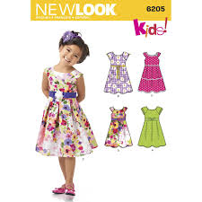 New Look Childs Dresses Sewing Pattern 6205 Hobbycraft