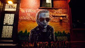 the joe strummer mural on 7th street is back video