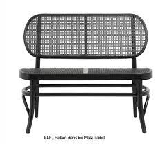 elfi schwarze rattan bank 2 sitzer rattanmöbel matz möbel vintage designermöbel