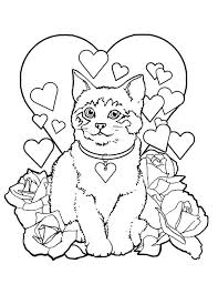 Inspiration Graphic Printable Valentines Day Coloring Pages