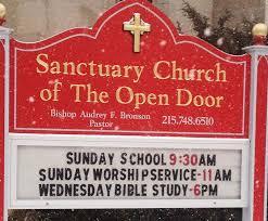 Sanctuary Church of The Open Door Home